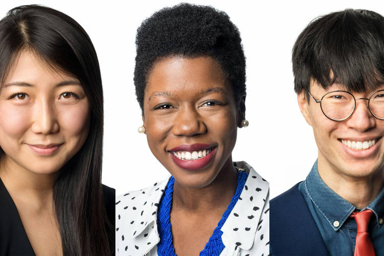 Princeton University alumni Natalie Guo, Harriet Kiwanuka and Jonathan Zong