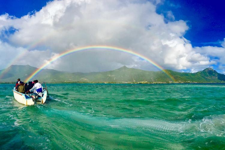 Photo of rainbow in Mauritius