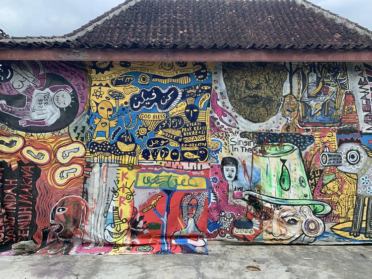 Street art in Jogja, Indonesia