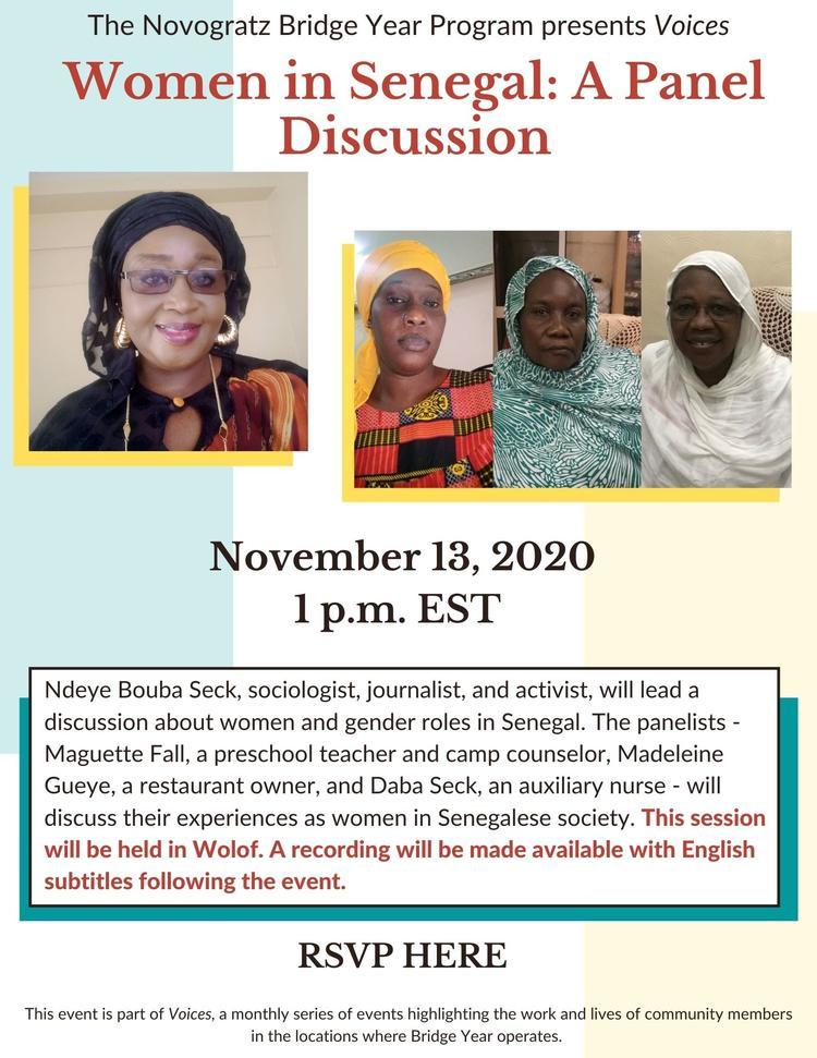 poster for women in senegal event